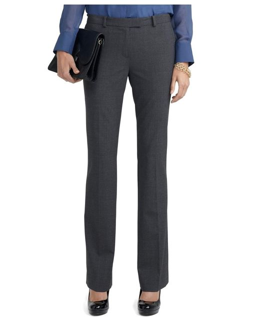 Brooks Brothers | Gray Wool Stretch Lucia Trousers | Lyst