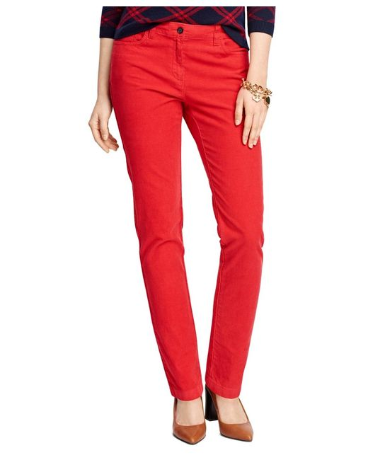 Brooks Brothers | Red Five-pocket Corduroys | Lyst