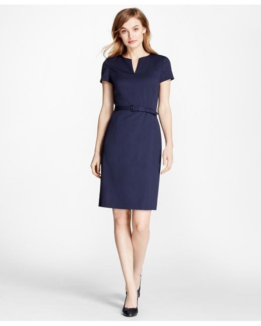 Brooks Brothers | Blue Stretch Wool Sheath Dress | Lyst