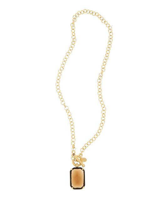 Brooks Brothers   Metallic Amethyst & Topaz Pendant Necklace   Lyst