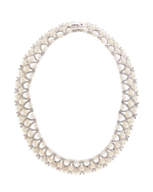 Brooks Brothers | Metallic Crystal Necklace | Lyst
