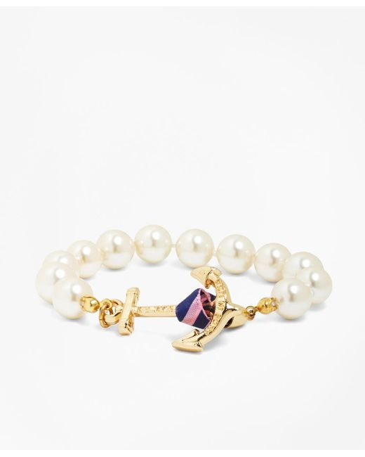 Brooks Brothers | White Kiel James Patrick Pearl Bracelet | Lyst
