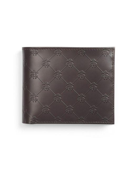 Brooks Brothers | Brown Golden Fleece® Embossed Coin Wallet for Men | Lyst