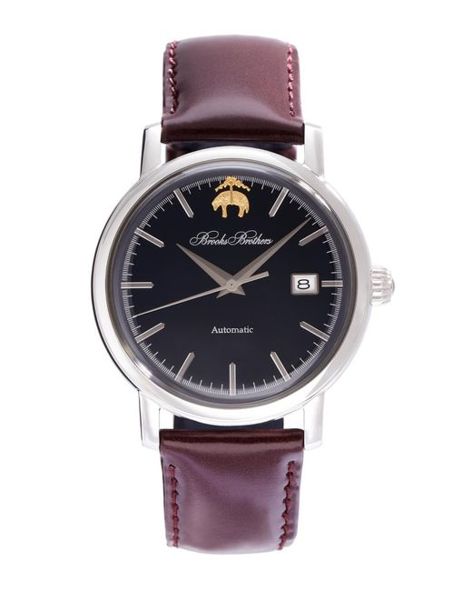 Brooks Brothers - Blue Round Watch With Calfskin Band for Men - Lyst