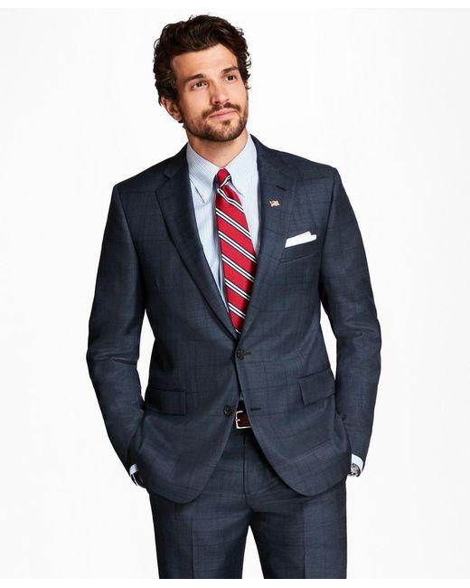 Brooks Brothers | Blue Regent Fit Plaid 1818 Suit for Men | Lyst