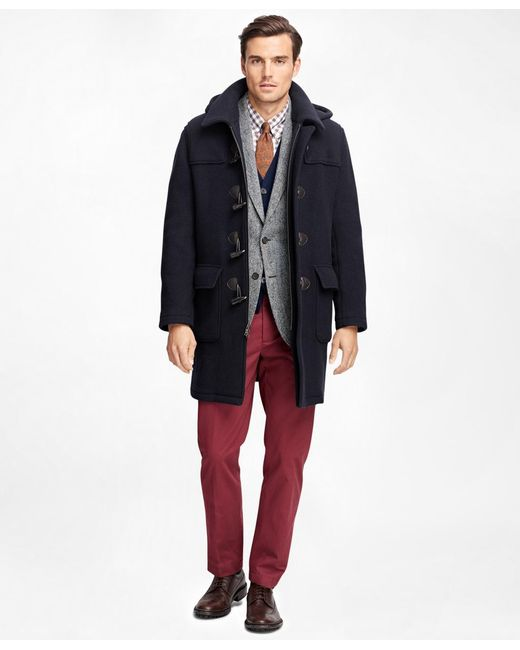 Brooks Brothers - Blue Duffle Coat for Men - Lyst