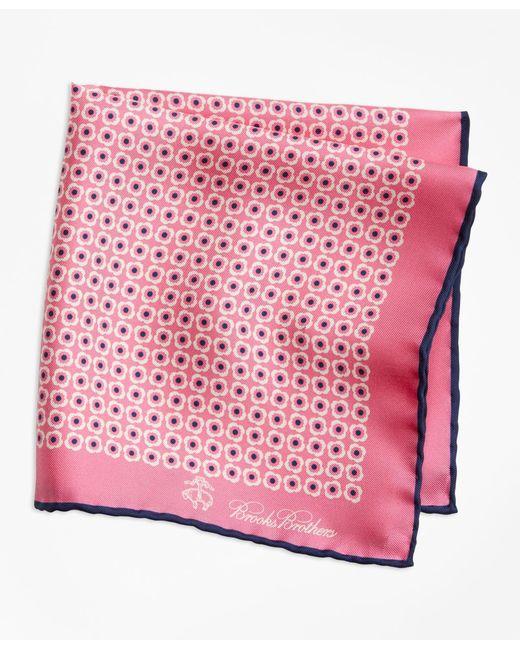 Brooks Brothers - Pink Flower Medallion Pocket Square for Men - Lyst