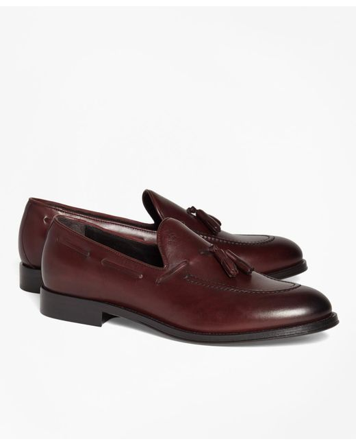 Brooks Brothers - Brown 1818 Footwear Leather Tassel Loafers for Men - Lyst