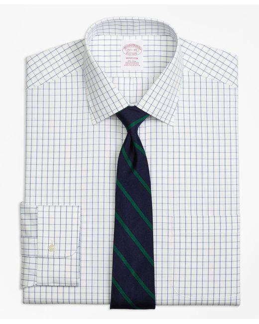 Brooks Brothers - Metallic Non-iron Madison Fit Windowpane Dress Shirt for Men - Lyst