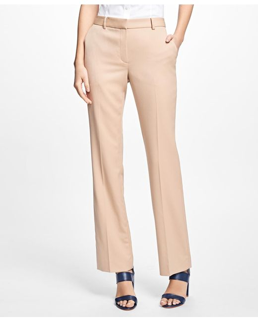 Brooks Brothers - Pink Gabardine Trousers - Lyst