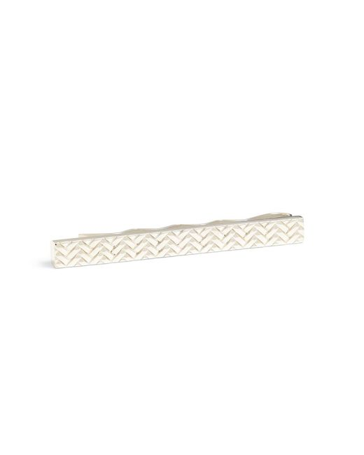 Brooks Brothers - Metallic Herringbone Tie Bar for Men - Lyst