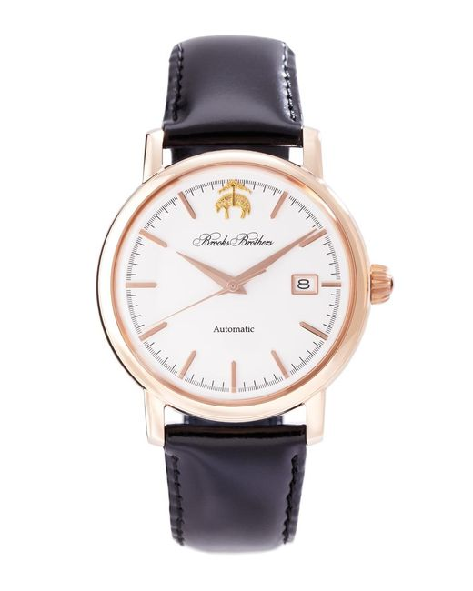 Brooks Brothers - White Round Watch With Calfskin Band for Men - Lyst
