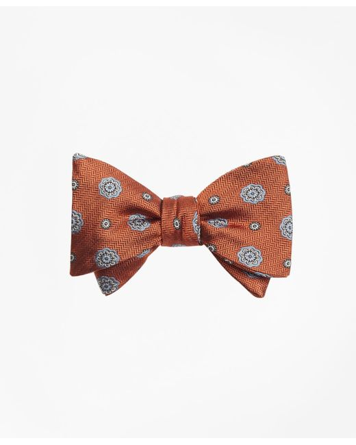 Brooks Brothers - Orange Spaced Medallion Bow Tie for Men - Lyst