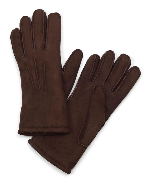 Brooks Brothers - Brown Shearling Gloves for Men - Lyst