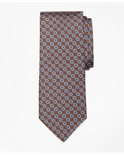 Brooks Brothers | Brown Diamond Link Print Tie for Men | Lyst