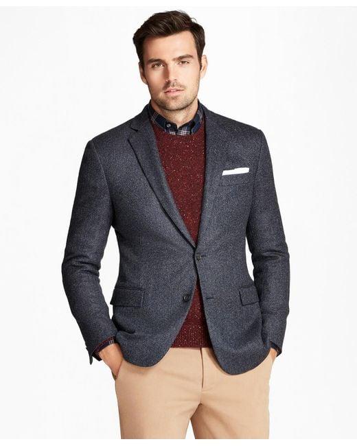 256fbd53837 Brooks Brothers - Blue Regent Fit Herringbone Sport Coat for Men - Lyst ...