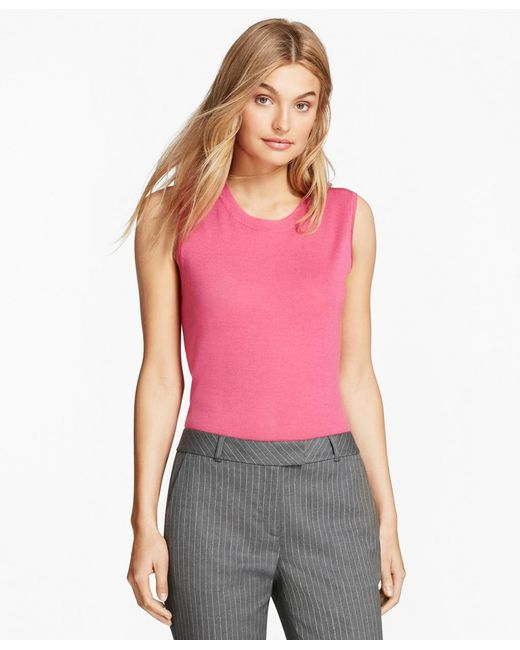 Brooks Brothers - Pink Merino Wool Shell - Lyst