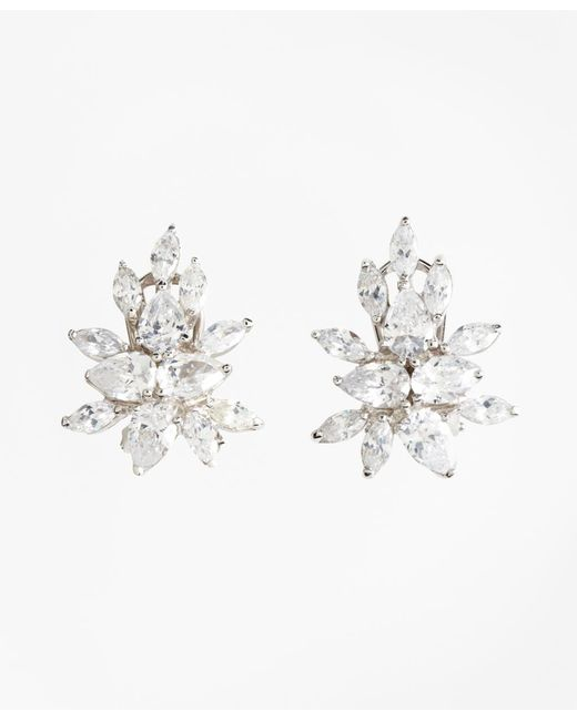 Brooks Brothers - Metallic Pierced Marquis Stud Earrings - Lyst