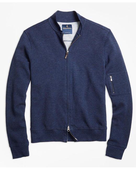 Brooks Brothers | Blue Cotton Bomber for Men | Lyst
