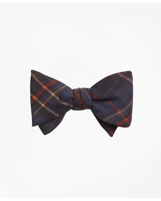 Brooks Brothers | Blue Ancient Madder Plaid Print Bow Tie for Men | Lyst