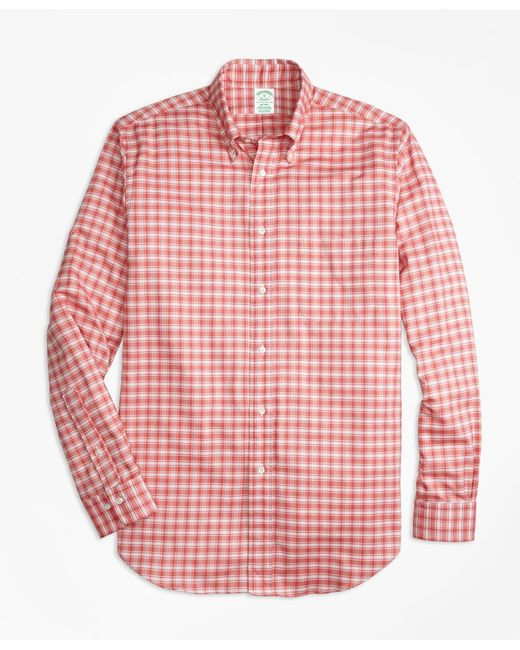 Brooks Brothers - Red Milano Fit Oxford Check Sport Shirt for Men - Lyst
