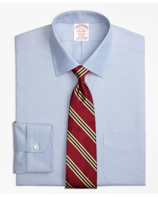 Brooks Brothers - Blue Non-iron Madison Fit Spread Collar Stretch Dress Shirt for Men - Lyst