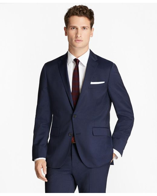 Brooks Brothers | Blue Alternating Pinstripe Wool Suit Jacket for Men | Lyst