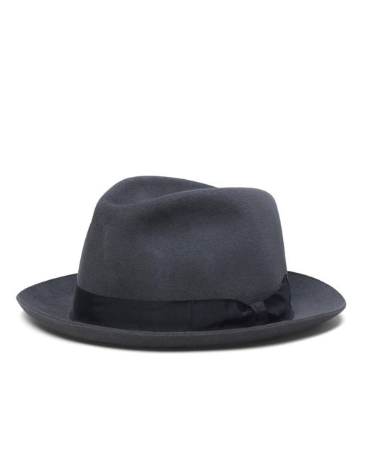 Brooks Brothers | Gray Tonal Ribbon Fedora for Men | Lyst