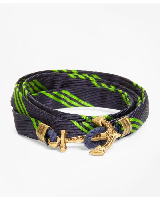 Brooks Brothers - Green Wrap Bracelet By Kiel James Patrick for Men - Lyst
