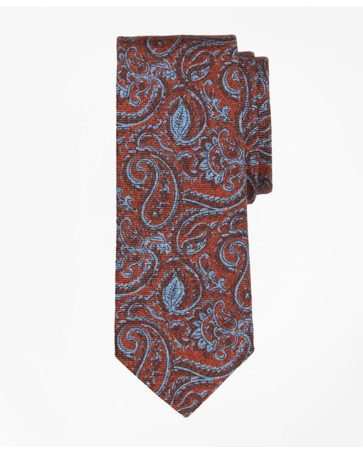 Brooks Brothers | Orange Paisley Print Tie for Men | Lyst