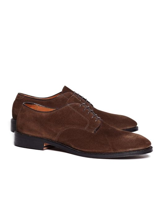 Brooks Brothers - Brown Unstructured Suede Blucher for Men - Lyst