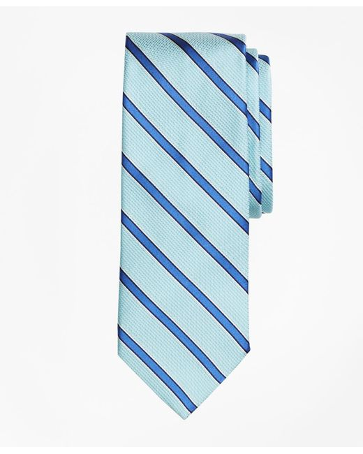 Brooks Brothers - Blue Textured Ground Framed Stripe Tie for Men - Lyst