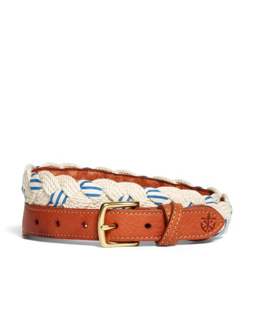 Brooks Brothers | White Kiel James Patrick Braided Stripe Belt for Men | Lyst