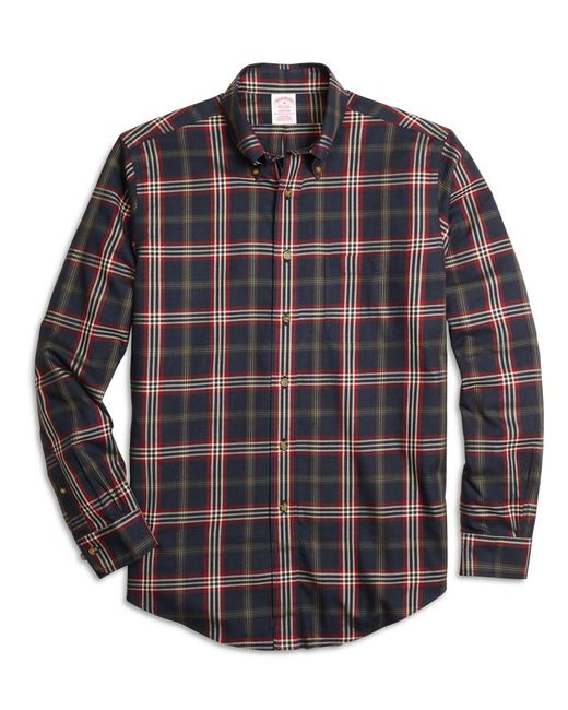 Brooks Brothers - Blue Non-iron Milano Fit Signature Tartan Sport Shirt for Men - Lyst