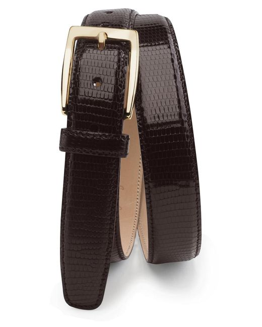 Brooks Brothers - Brown Genuine Lizard Belt for Men - Lyst