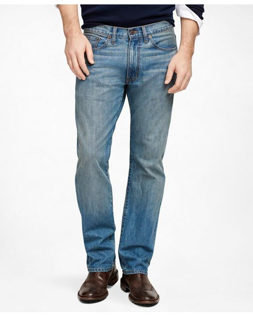 Brooks Brothers | Blue Supima® Denim Straight Fit Jeans for Men | Lyst
