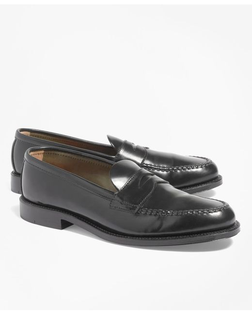 Brooks Brothers - Black Cordovan Unlined Penny Loafers for Men - Lyst