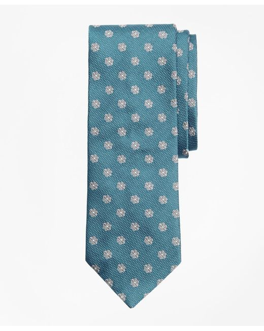Brooks Brothers - Blue Textured Framed Flower Tie for Men - Lyst