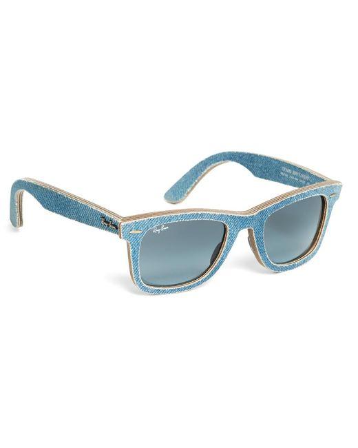 Brooks Brothers - Ray-ban® Wayfarer Light-blue Denim Sunglasses - Lyst
