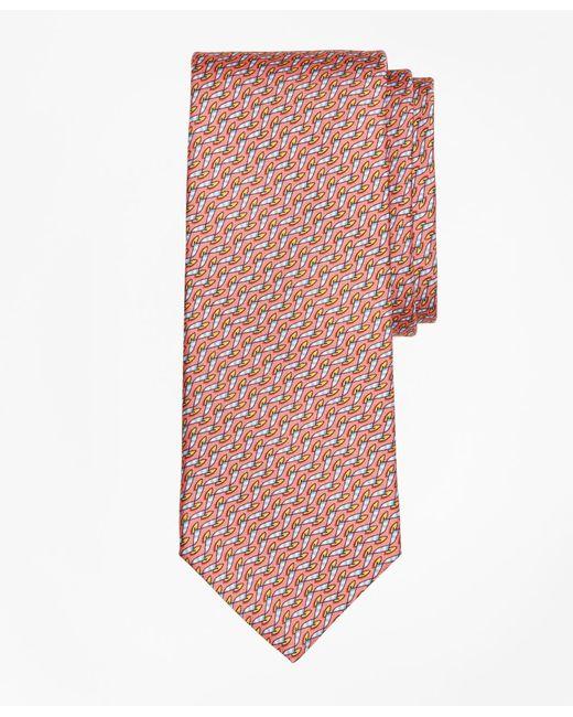 Brooks Brothers - Orange Windboard Print Tie for Men - Lyst