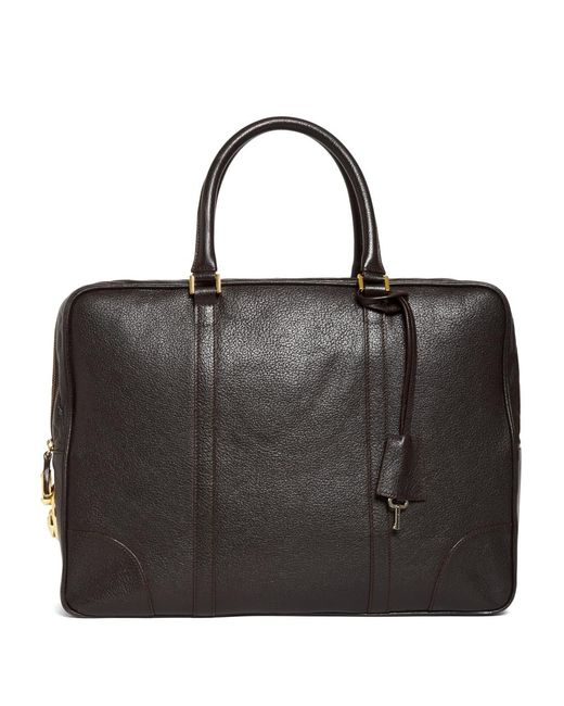 Brooks Brothers | Brown Buffalo Soft Briefcase for Men | Lyst