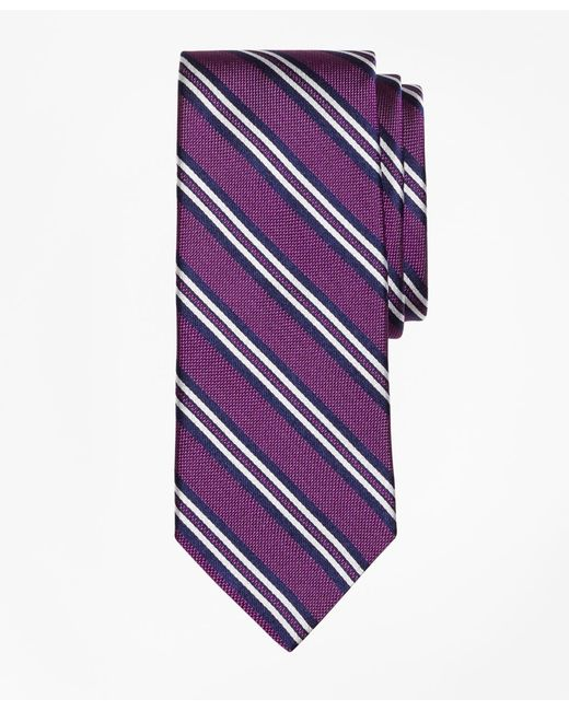 Brooks Brothers - Purple Natte Double Stripe Tie for Men - Lyst