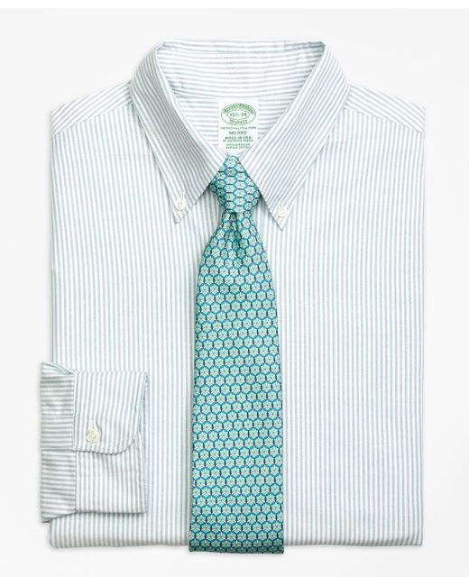 Brooks Brothers - Blue Milano Fit Original Polo® Button-down Oxford Bengal Stripe Dress Shirt for Men - Lyst
