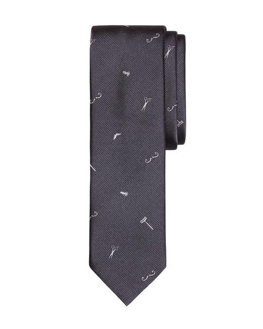 Brooks Brothers - Gray Barber Shop Motif Slim Tie for Men - Lyst