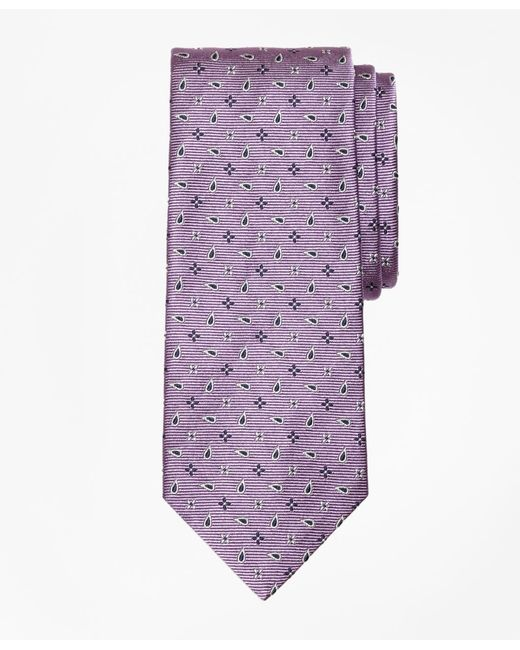 Brooks Brothers - Purple Spaced Flower And Pine Tie for Men - Lyst