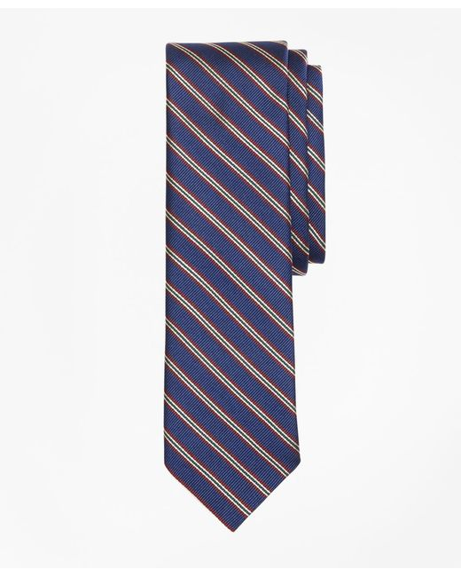 Brooks Brothers | Blue Striped Silk Rep Tie for Men | Lyst