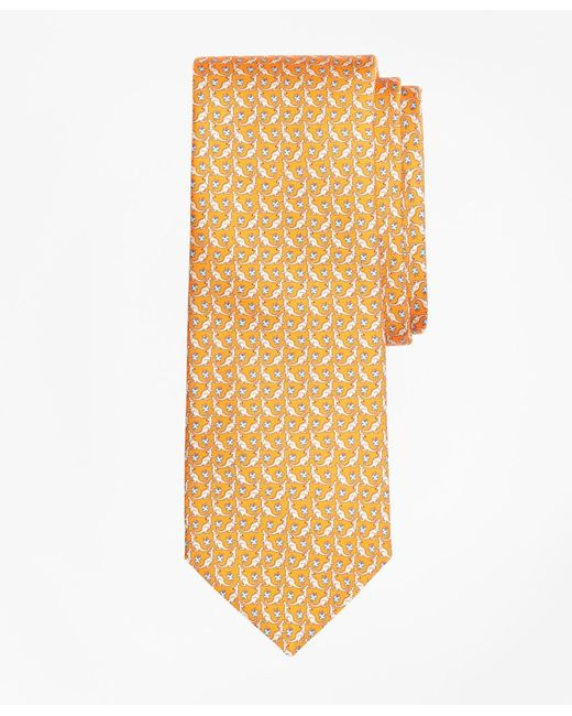 Brooks Brothers - Orange Kangaroo Print Tie for Men - Lyst