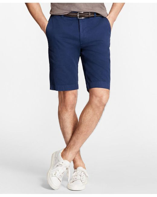 "Brooks Brothers - Blue Garment-dyed 10"" Bermuda Shorts for Men - Lyst"
