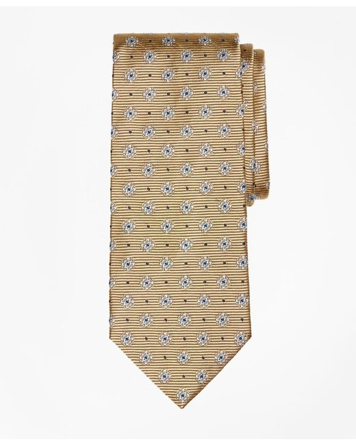 Brooks Brothers - Metallic Framed Diamond Medallion Tie for Men - Lyst