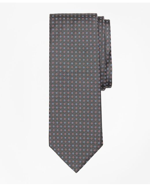 Brooks Brothers - Gray Alternating Squares Tie for Men - Lyst